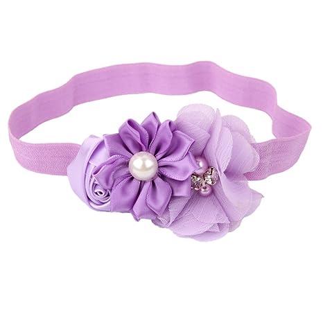 yeah67886 hermosa flor de bebé niña diadema Cabello banda ...