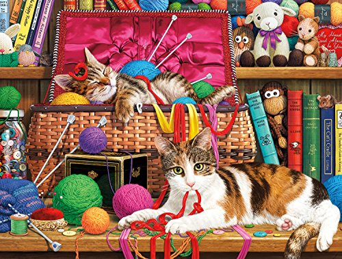 Buffalo Games - Cats Collection - Comfy Spot - 750 Piece Jigsaw Puzzle