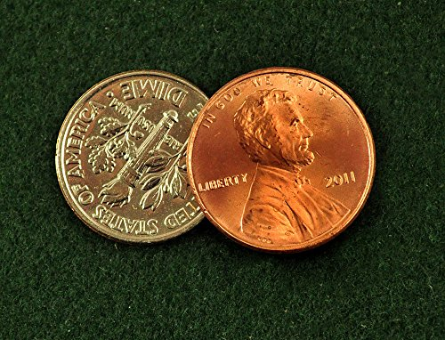 Dime and Penny - Magic Trick Made From Real Coins - Scotch & Soda Type Gimmick
