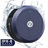 MuveAcoustics A-Star Portable Bluetooth Waterproof Speaker with Powerful Sound, Strong 6W Bass, 6-Hour Playtime, Built in Mic, Great for Indoor/Outdoor - Travel,Shower, Pool, Beach, Car, Home (Blue)