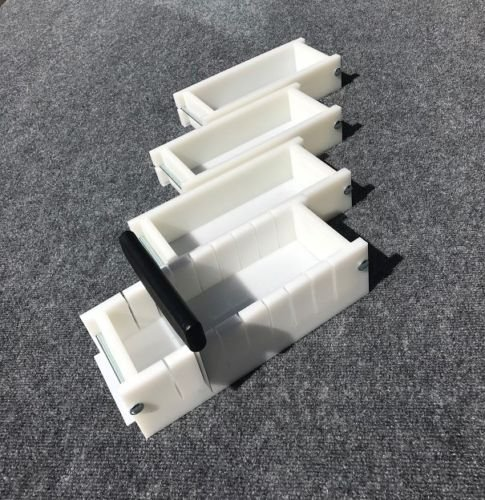 Lot of 3 HDPE Soap Loaf Making Mold and Multi Slot Soap Cutter 2 - 3 lb per mold