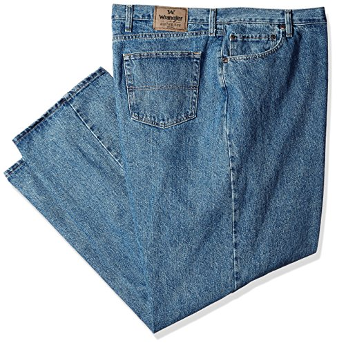 Wrangler Authentics Men's Classic Relaxed Fit Jean, Vintage Stonewash, 33x32 by Wrangler