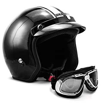 "Armor · AV-47 Set ""Black White"" (black) · Casco moto"