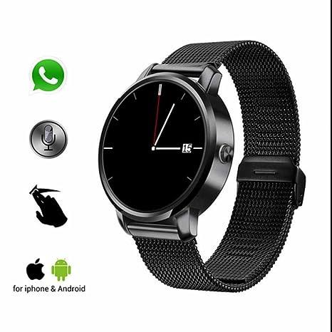 Reloj inteligente con Bluetooth,deportivo contador de pasos,Recordatorio sedentario,Smartwatch vibracion silenciosa