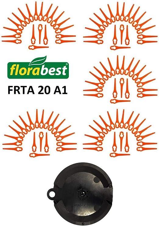 YDong 120 Piezas para Florabest LIDL FRTA 20 A1 Lidl IAN 282232 Cuchillas de Corte de Pl/áStico de Repuesto para Florabest la Podadora de C/éSped Desbrozadora