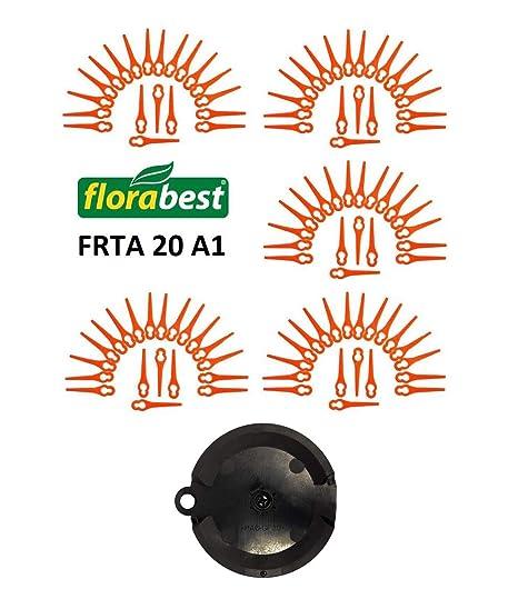 100 cuchillas de repuesto para Florabest, de Lidl, desbrozadora a bateria FRTA 20 A1, IAN 282232