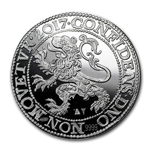 2017 NL Netherlands 1 oz Silver Lion Dollar Restrike (Proof) 1 OZ Brilliant Uncirculated (Lion Dollar Coin)