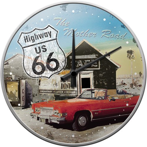 (US Route 66 Metal Clock)
