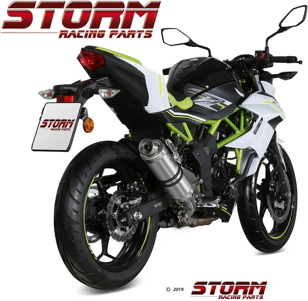 74.K.048.LXS Storm by Mivv Gp Edelstahl f/ür Kawasaki Z 125 2019 19