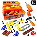 Tools and Tool Box Toy - Three Tier 46 Piece Tool Kit for Kids