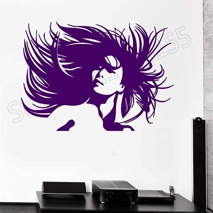 xingbuxin Retrato de Mujer Hermosa Peinado Loco Pegatina de Pared ...