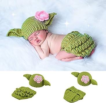 Lukame Ropa Sombrero Fotografía Prop Traje Foto Traje Crochet Recién Nacido Crochet Knitting Toys Juguetes hechos a mano para fotografía fotográfica: Amazon.es: Bricolaje y herramientas