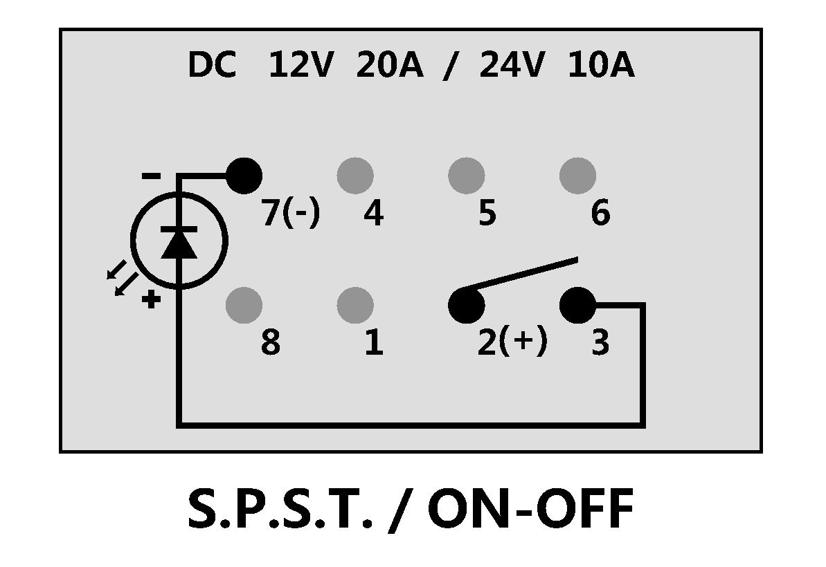 Rocker Switch On/Off Green Head Lights Polaris RZR RZR4 XP1000 XP900 800 800s