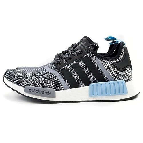adidas Originals Hombre Primeknit NMD R1 Zapatillas de Running (Negro, Transparente), Color Azul: ADIDAS: Amazon.es: Zapatos y complementos