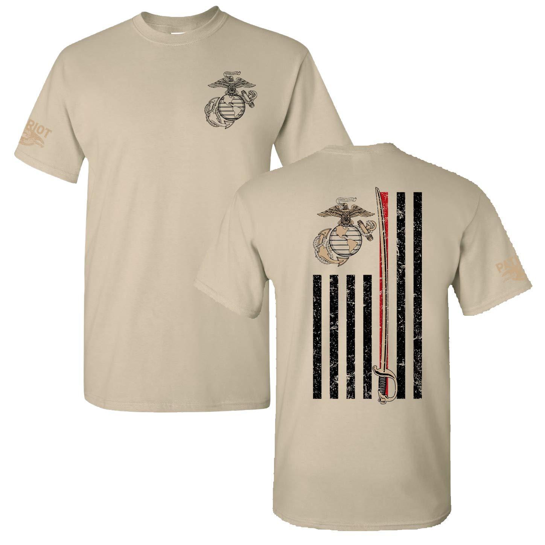 0a0ec53f Amazon.com: Patriot Apparel Thin Line USMC Marine Corps T-Shirt Tee:  Clothing