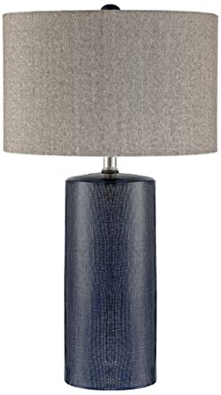 Lite Source Jacoby Navy Blue Ceramic Table Lamp Amazon Com