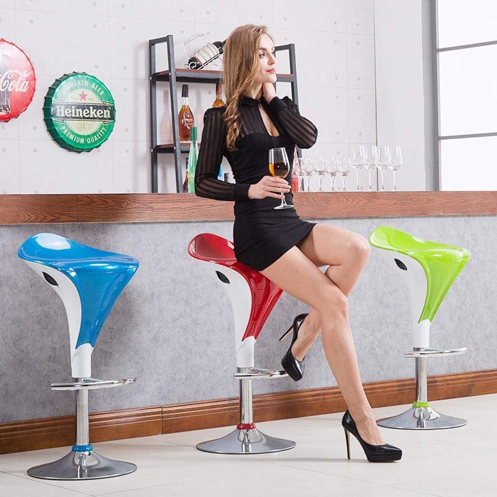 Tabourets NSDFG Tabouret de bar Café Bijoux Comptoir Maquillage Avant Rotation Réglage de la hauteur Confort Chaise haute (Couleur : Blanc) Blanc
