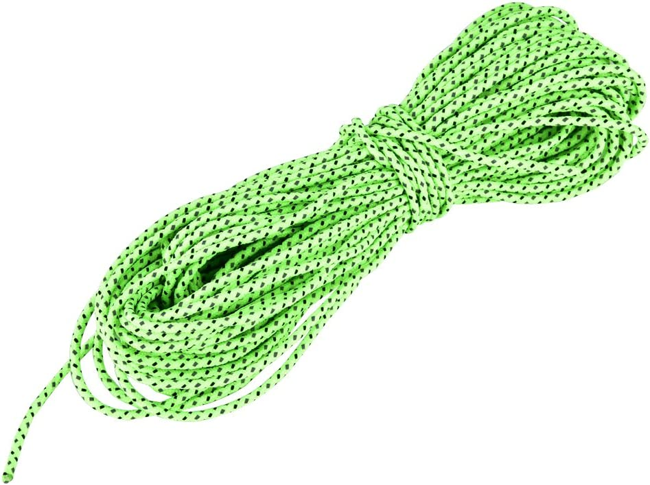 VGEBY1 Tent Rope 20m Polyester Reflective Glow Cord Tent Cord Hammock Guyline Rigging for Outdoor Activities