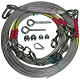Freedom Aerial Double Dog Trolley Run Cable 2 Dogs FADR-DD500 (Large Dogs, 75 FT)