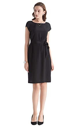 962b772225e4 LILYSILK Ladies Silk Little Black Dress V Neck Regular Fit Dress 100% Crepe  de Chine