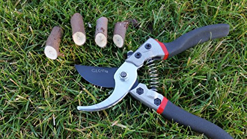 Professional Bypass Pruning Shears | Heavy Duty Garden Scissors with Non-Slip Handles | Garden Pruners, Clippers and Tree Trimmers with SK5 Sharp Blade | Bonus Gardening Gloves | Great as GlFT by GLC Star (Image #7)