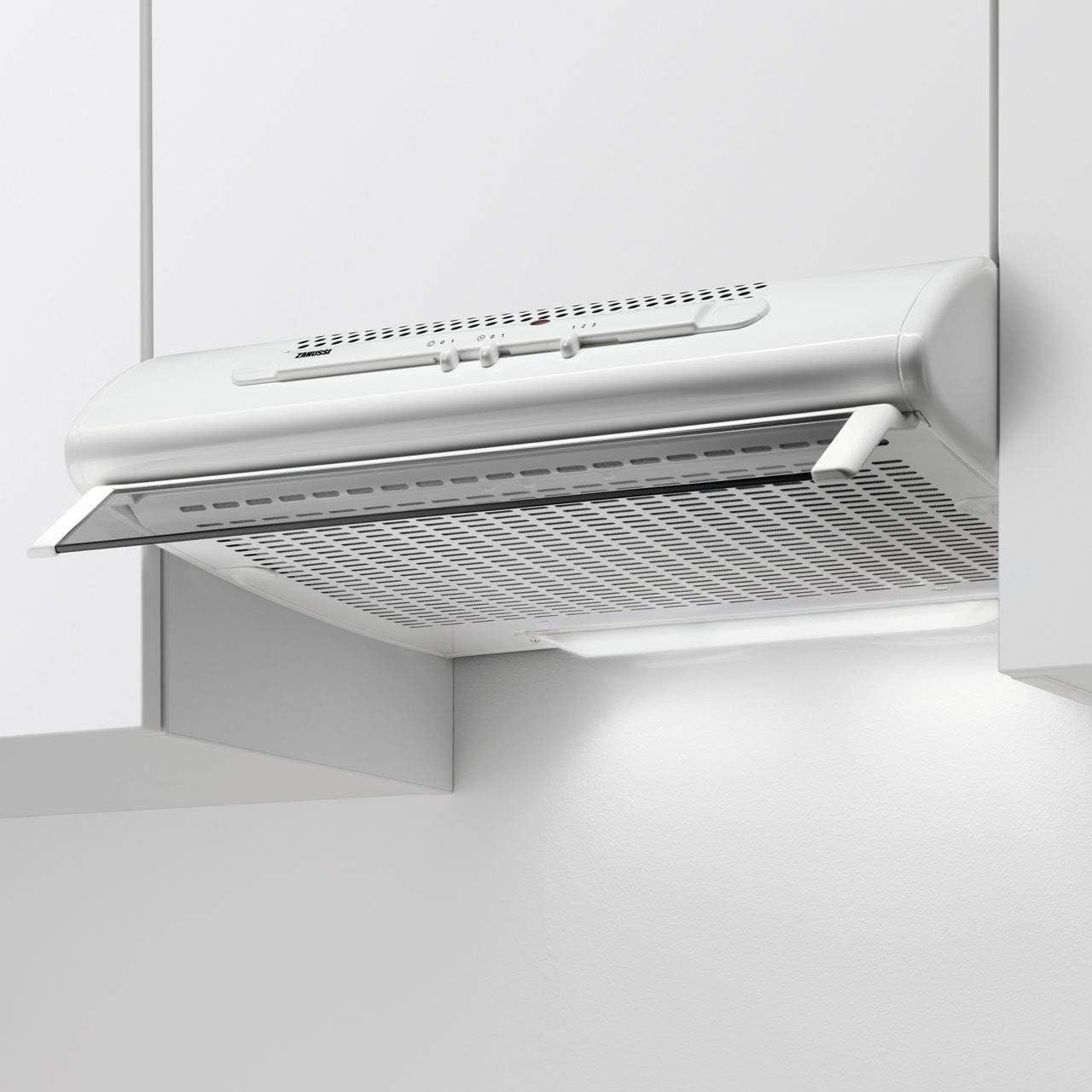Zanussi ZHT611W - Campana de cocina convencional, color blanco: Amazon.es: Grandes electrodomésticos