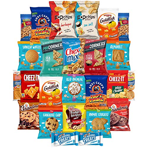 Snack Chest Delicious Set of Treats Sampler Bundle Care Package (25 -