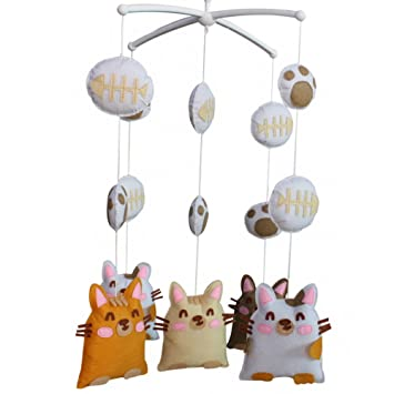 Amazon.com : Adorable Nursery Room Decoration, [Greedy Cat], Baby Mobile, Pretty Gift : Baby