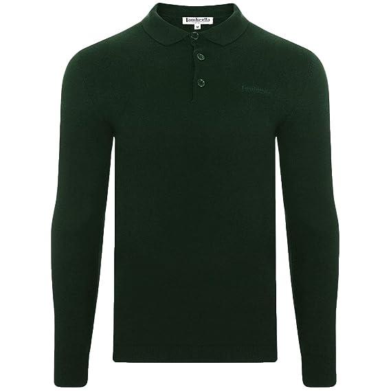 7e1db5580 Lambretta Mens Knit Polo Shirt - Dark Green  Amazon.co.uk  Clothing