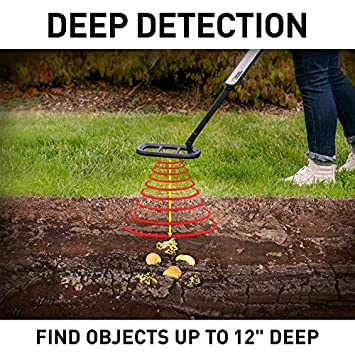NATIONAL GEOGRAPHIC PRO Series Metal Detector – Ultimate Treasure Hunter with Pinpointer, Large Waterproof 10 Coil – Lightweight and Collapsible for easy travel