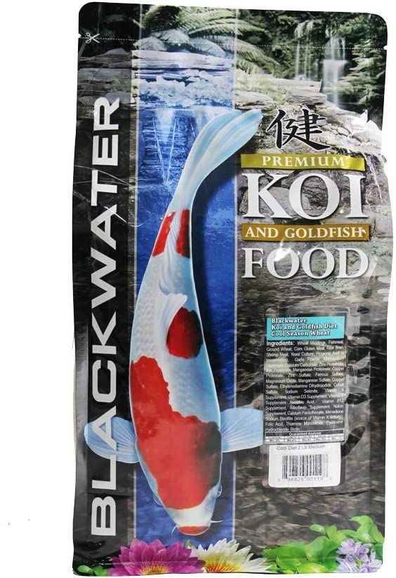 Blackwater Premium Koi and Goldfish Foods Cool Season 2lb Medium Pellet