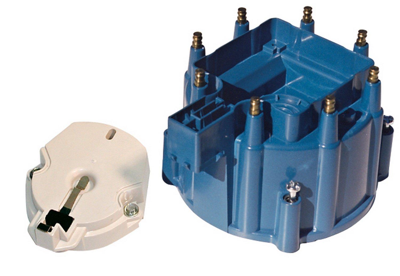 Proform 66947BC Cap & Rotor Kit For Select GM V8 Vehicles, Blue Cap