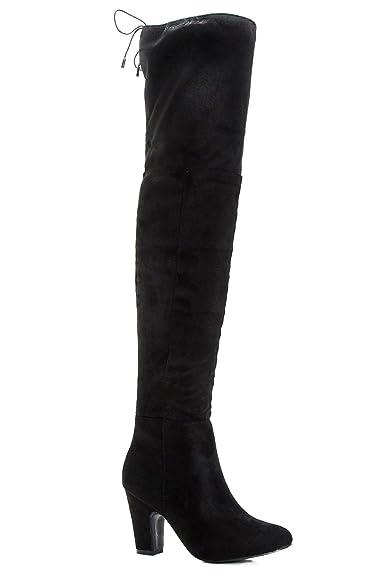 Grau Damen Scarlette Overknee-stiefel Mit Profilsohle - 7 Qv1AX