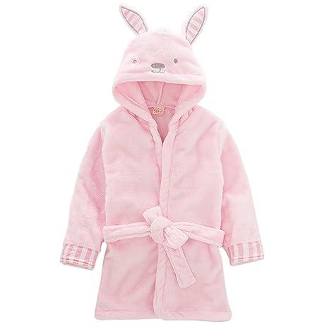 Niños Albornoz con capucha camisón, bebé toalla de baño pijamas Baño robe Animal ropa de