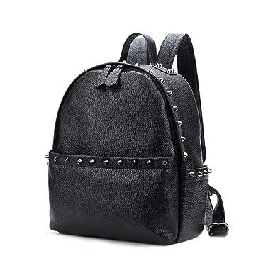 353f961d98e2 Amazon.com  Women Backpack Pu Leather School Bags Backpacks Back Pack For Teenagers  Girls Shoulder Bag  Clothing