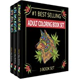 Creatively Calm Studios Adult 3 Coloring Books Set with 120 Animal, Mandala and Scenic Designs