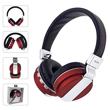 Dreamyth Stereo Audio Blutooth 4.0 Earphone Auriculares Bluetooth Headset Wireless Headphones For IPhone (Red)