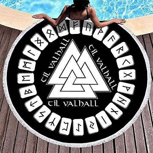 Leo-Shop Odin Valknut Runes - Manta Redonda de Playa Redonda ...