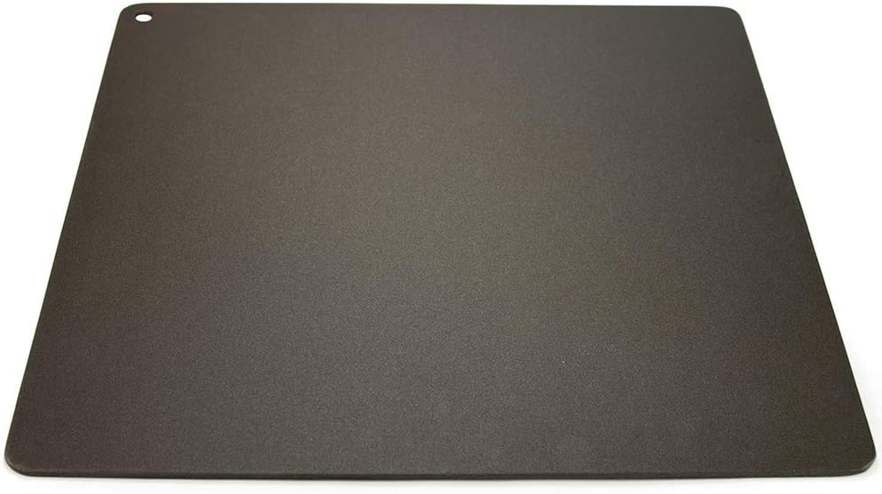 Pizzacraft PC6302 Square Kitchen or Barbeque Grill Steel Baking Plate, Black