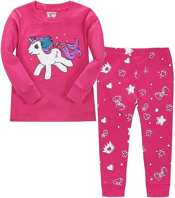 LitBud Navidad Pijamas de Las niñas pequeñas 100% algodón Jirafa Ropa de Dormir Pijama de Manga Larga pjs Conjunto para niños Talla 1 a 7 años Rosa: Amazon.es: Ropa y accesorios