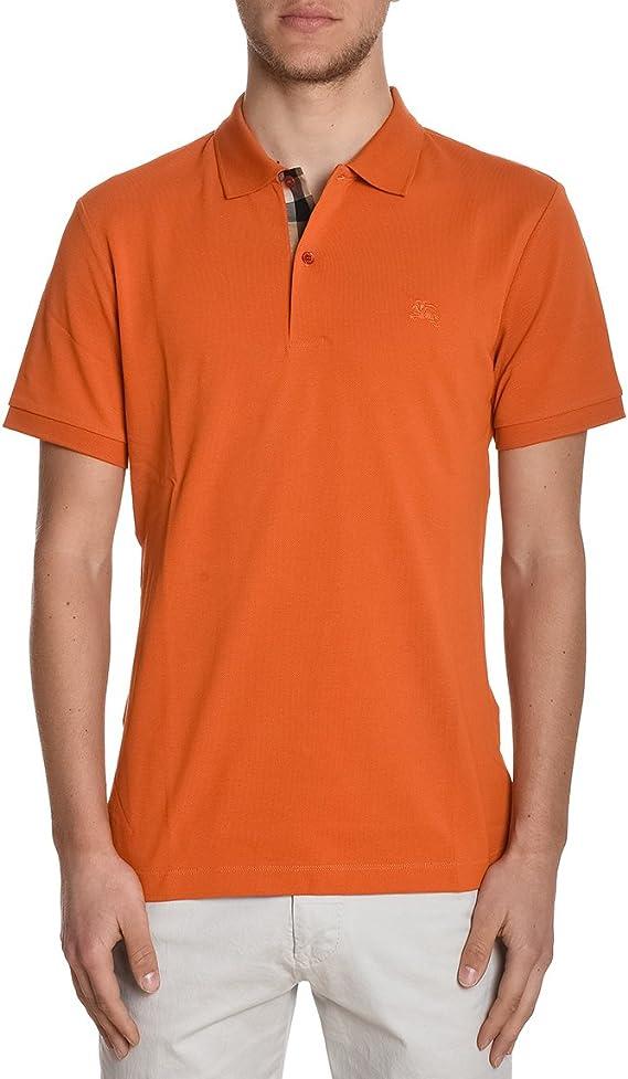 BURBERRY - Polo - para hombre naranja 50: Amazon.es: Ropa y ...