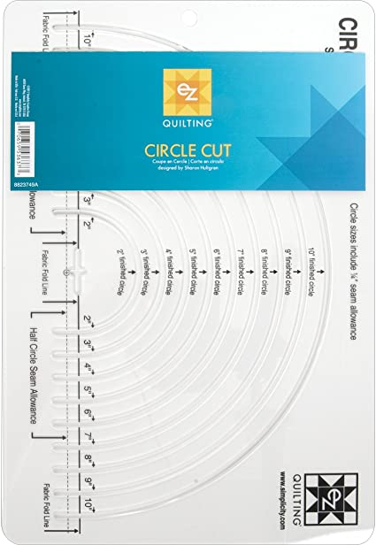 7.5 Choice of Size Acrylic Circle Quilt Template