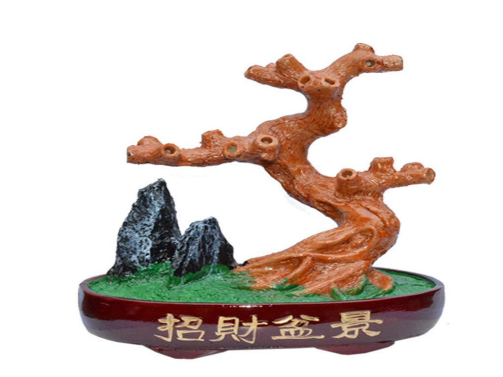 Lucky Tree Base Resin Bonsai Crafts Ornaments Creative Decorations