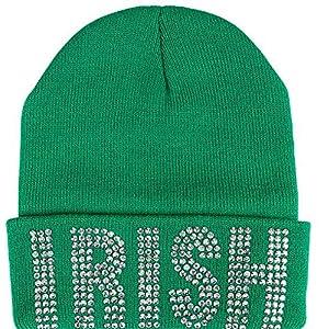 RINCO St. Patrick s Day Irish Kelly Neon Crazy Green Shamrock Fedora Hat  (Beanie) 9b6ce03b638a