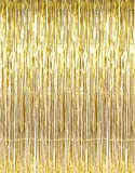 Toys : GOER 3.2 ft x 9.8 ft Metallic Tinsel Foil Fringe Curtains for Party Photo Backdrop(Gold,1 pack)