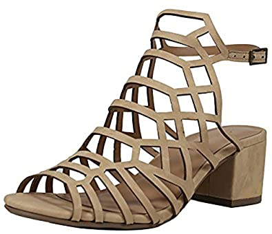 4e038a3b895 City Classified Women s Open Toe Strappy Cutout Ankle Strap Chunky Mid Heel  Sandal MVE Shoes MVE