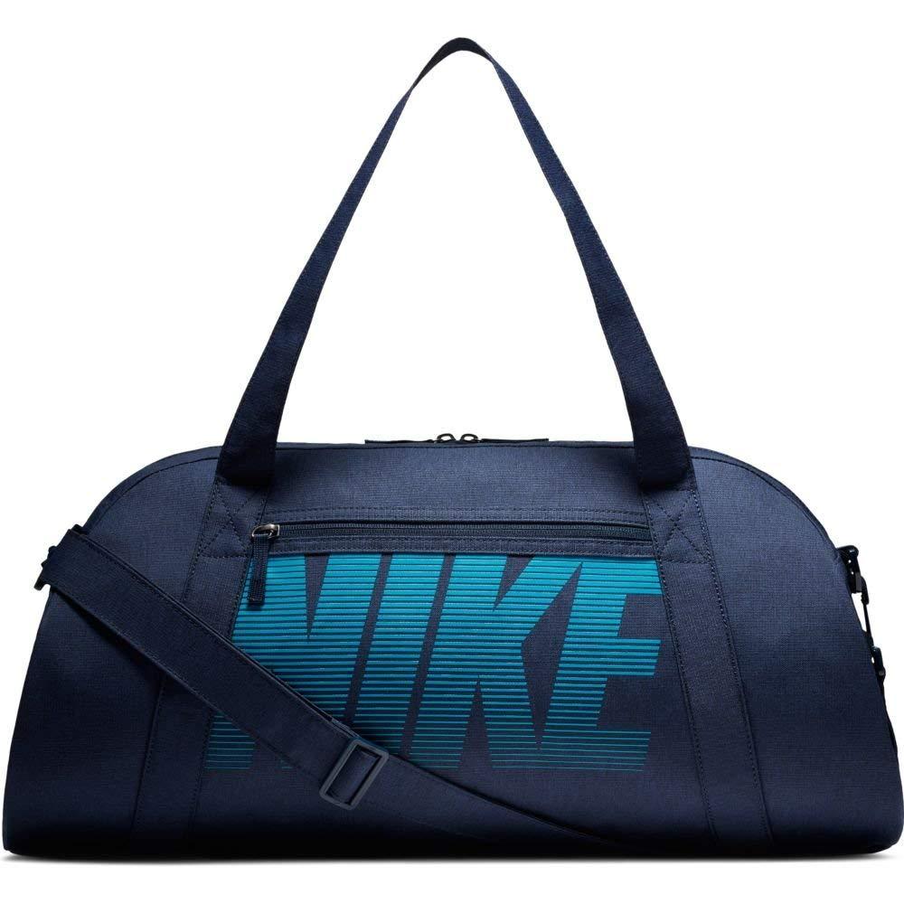 Nike Women's Gym Club Training Duffel Bag (Obsidian/Obsidian/NEO Turq, One Size) by Nike