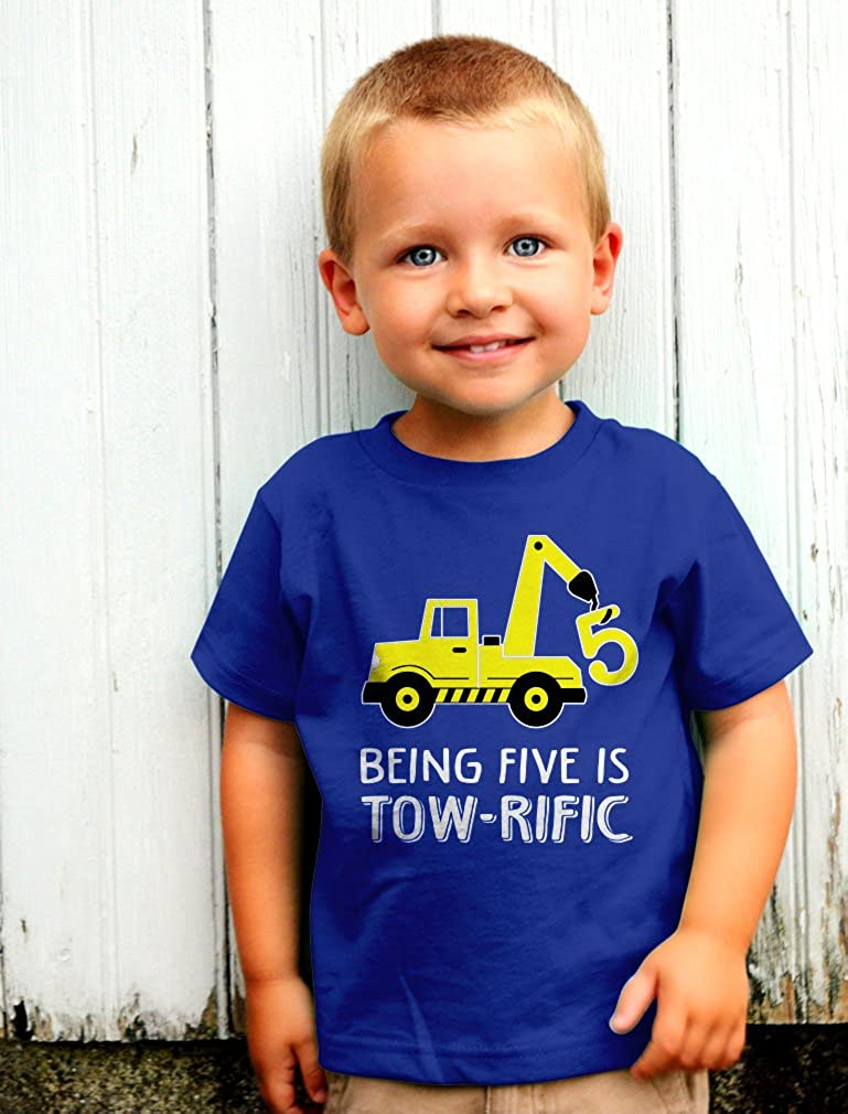 5th Birthday Tractor Construction Party Toddler Kids T-Shirt Tstars