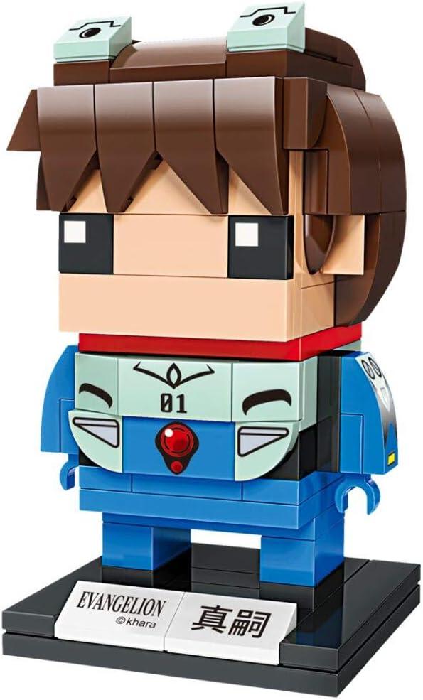 KEEPPLEY Neon Genesis Evangelion Shinji Ikari Figure Set (Bricks Building Kit) Japanese Anime Q Posket Evangelion EVA 3D Model kit Collectible Construction Toy