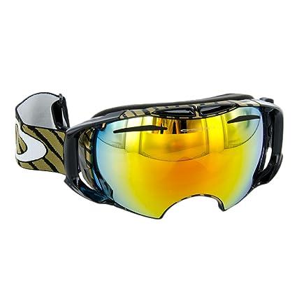 7ee87ea224 Amazon.com   Oakley Airbrake Adult Goggles 2012  (Black Fire Iridium ...